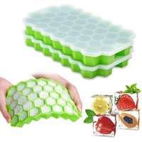 Baking Moulds 37 Cavity Ice Cube Tray Honeycomb Mold Food Grade Flexible Whiskey Silicone Cocktail For Molds