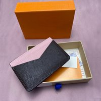 Wallets Brand leather double-sided wallet multi-functional business bank credit card bag Good quality zero wallet with box
