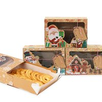 Gift Wrap 12 6 3 Pcs Kraft Paper Portable Christmas Box Party Favor Holders Candy Cookie Boxes With Snowman Santa Claus Card