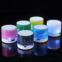 Mini haut-parleurs Bluetooth haut-parleur Bluetooth Haut-parleur sans fil Crack LED TF Card USB Subwoofer Portable MP3 Music Sound Colonne pour téléphone portable PC