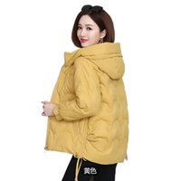 Short Winter Jacket Women Parka Coat Warm Thick Down Cotton Female Loose Hooded Outerwear