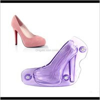 Moulds Bakeware Kitchen, Dining Bar & Garden Drop Delivery 2021 3D High Heel Shoe Chocolate With Magnet, Polycarbonate Candy Cake Decoration