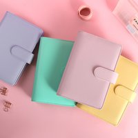 File Notepad Cover Organizer PU Leather Vintage Refillable A6 Durable Office School Supplies A6 Notebook Binder Budget Planner