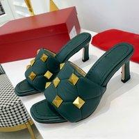 Женская скидка Trump моды тапочки квадратный мул бренд обувь ср. Сексуальная высокая каблука сандалии LiDo кожаный роскошный дизайнер Shoelace оригинальная коробка