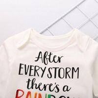 Clothing Sets Autumn Winter Children Boys Girls Cotton Long Rainbow T-Shirt Sleeve Hats Clothes Baby Tracksuit + Kids I2V2