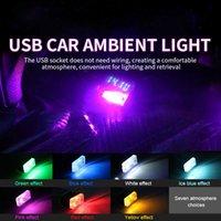 سدادات USB أضواء LED سيارة مصباح المحيط الديكور الداخلي أضواء الجو لسيارة التبعي مصغرة usb led لمبة غرفة الليل