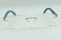 2021 Nuevos marcos de vidrios de estilo para hombres Mujeres Diseñadores de alta gama 3524012 Natural Treal Frame, Tamaño: 36-18-135