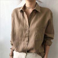 Femme Блузки Топы Мода Осенние Белые Рубашки Женщины Длинные Рукава Блуша Корейский Женщина Белье Одежда Феминин