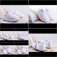아기, 키즈 출산 드롭 배달 2021 태어난 아기 화이트 코튼 유아 소년 첫 번째 워커 부드러운 유아 신발 귀여운 침대 신발 아이 Gir