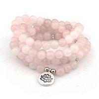 Charm Bracelets 108 Mala Bracelet For Women Men Buddha Lotus OM Pendant Necklace Or Crystal Yoga Prayer Warp Jewelry