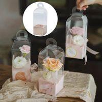 1 pcs caixa de embalagem transparente valentine rosa urso presente de flor diy casamento caixas de natal bolo envoltório