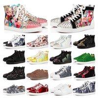 Studded Spikes Flats scarpe Red Bottoms scarpe di lusso Mens Womens Party Lovers Scarpe da ginnastica in vera pelle taglia 36-46