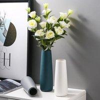Modern Bitki Vazo Dekorasyon Nordic Çiçek Seramik Aksesuarları Yatak Odası Estetik Ofis Masası Deco Maison Ev Dekor DF50HP Vazolar