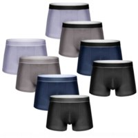 NgHe combed one piece underwearcotton pure wo panties color breathable boxers men's four seasons pure cotton men's underwear