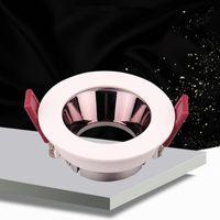 램프 커버 음영 고품질 알루미늄 LED 오목한 천장 Downlights MR16 GU5.3 GU10 E27 소켓 스팟 피팅 프레임 전구 교체 가능