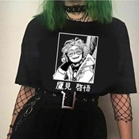 T-shirt Unisex T Benim Kahraman Academia Hawks Anime Büyük Boy Erkek Giyim Streetwear Rahat OPS