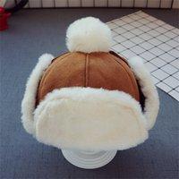 Bebek Erkek Kız Şapka Çocuk Çocuk Kulak Flap Muff Kış Sıcak Peluş Pamuk Kap Açık Lei Feng Kap Beanie Hediyeler Şapka 2-3 Yıl 1184 X2
