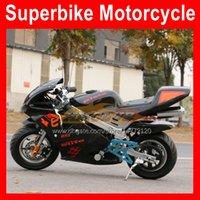 2021 Mini Motorfiets Sport Echte Motor Hand Start Moto Bike 49CC / 50cc Benzine Kart Kinderen Racing AutoBike Kleine Sports Party Race Adult Autocyclus met Licht