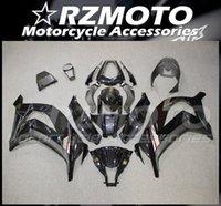 Nya ABS-helvete Kit Passar till Kawasaki Ninja ZX-10R 2011 2012 2013 2014 2015 11 12 13 14 15 ZX10R Bodywork Set Bright Black Grey Custom