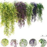 Neufartifical Flowers Vine Ivy Feuille Soie Suspendante Ville Fausse plante Plantes Artificielles Vert Garland Accueil Mariage Partie de mariage Décoration EWD5522