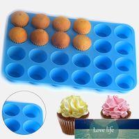 24 orificios de silicona cookies de jabón cupcake hornee pan bandeja molde mini muffin taza casero bricolaje pastel hornear herramientas moldear chocolate molde