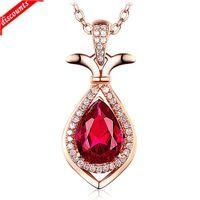 Love Bottle Pendant Red Topaz Pietra Acqua di lusso Diamante Blooming Blooming JDZ833
