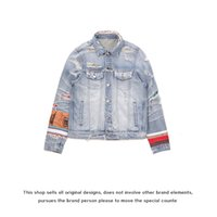 AMIR fashion brand Fog silk patching destroy denim jacket make old splash ink high street coat men