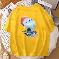 Women's T-Shirt Japanese Cartoon Style Printing Tee Shirts Fashion Brand Unisex Summer Cotton Crewneck Breathable Tshirts Women
