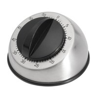 Kitchen Timers 1pc Stainless Steel Dome Shape Timer 60-minutes Countdown Mechanical Wind Up Alarm Clock Home Cooking Tools #LR2