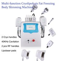 2 cryo handles fat freezing slimming machine cryolipolysis cavitation rf vacuum cellulite reduction lipolaser cryotherapy beauty equipment