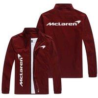 F1 McLaren Véhicule hors route Automne Veste de Denim Veste Hommes Breaker Marque Pocket Pocket Pocket Costume de course occasionnel