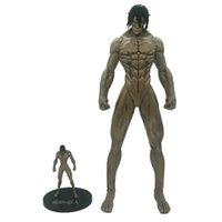 Neue Angriff auf Titan Anime Abbildung 45 cm eren yever grundieren titan riesige puppe action figuras pvc nendroid model sammlung spielzeug g0916