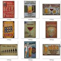 Poster de la bière de peinture en métal 4000+ Style Style Corona Extra Tin Signes Rétro Stickers muraux Décoration Art Plaque Vintage Vintage Home Decor Bar Pub HWWE9438