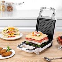 Electric Skillets Multi-Function Breakfast Maker Sandwich Machine Compact Panini Press Toast Grilling Omelets Bread Pancake Waffle