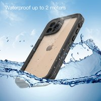 Redpepper IP68 With Screen Protector Waterproof Cases Full-Body Shockproof Dirtproof Diving Swimming Underwater Clear Case For iPhone 12 Mini 11 Pro Max XR XS X