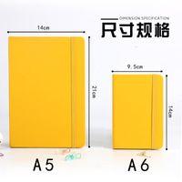 7 ألوان A5 غلاف فني دفتر بو الجلود الكلاسيكية مدرسة مذكرات المفكرة مكتب الأعمال سجل كتاب مع إغلاق مرونة النطاقات 1371 T2