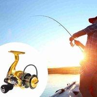 5.5: 1 Roulements à billes 12bb Carpe Pêche Boucle de pêche K8356 Bobine métallique JE2000-7000 Poignée semi-métallique Bouleaux de Baicasting en plein air