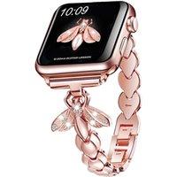 Cinturino in metallo monili per donna per cinturino per orologio Apple 6 44mm 40mm 38mm 42mm Bee Diamond Band Bands Serie SE 6 5 4 3 Bracciale