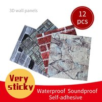 Wallpapers 39cm*35cm 3D Wall Sticker Ceiling Waterproof Self-Adhesive Foam Wallpaper Living Room Kitchen Panel Home Decoration