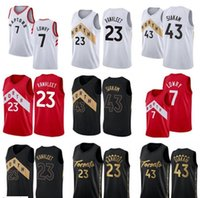 2021 Pascal 43 Siakam Jersey Kyle 7 Lowry Tracy Vince Carter Fred 23 Vanvleet Basketbol Gömlek NCAA Dikişli Kolej Formaları