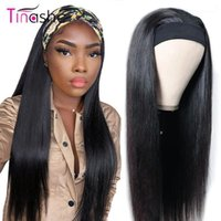 Tinashe Straight Head Band Wigs Human Hair 150 Density Brazilian Lace Front Wig Chic Scarf Headband For Black Women1