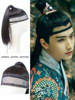 Hanfu Entegre Ming Stil Peruk Başlık Erkek Kadın Çocuk Giysileri Alın Peruk Tembel Net Havlu Antik Stil Film Silme Ve
