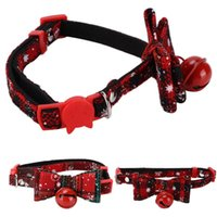 Cat Collars & Leads Collar Bow Tie Holiday Safe Cute With Bell For Kitten