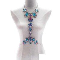 3 colori moda corpo gioielli unici strass perline perline corpo catena del corpo estate bikini reggiseno accessori spiaggia partito costo jlllgev bddeome