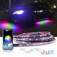 RGB LED Band Bluetooth Control Couleur fluide Sous voiture 90cm 120cm IP65 tube sous-gloie SYSTÈME SYSTÈME DE SYSTÈME NEON 12V