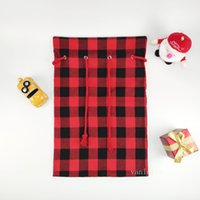 Christmas Decoration Candy Bag Drawstring Pockets Santa Sacks Festival Storage Bags T2I52786