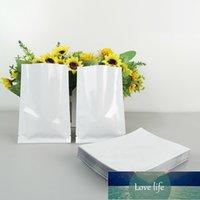 12 * 18 cm 100 SZTUK Białe Plating Uszczelniaczalna Folia Aluminiowa Plastikowa torba do przechowywania, Top Otwarty aluminiowany Packuum Mylar Pacuch Pack