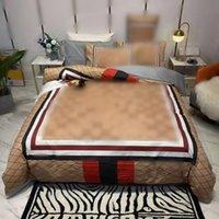 القطن مجموعات الفراش 4 قطع غسل المياه مصمم إلكتروني قطاع الطباعة الرقمية أغطية السرير وسادة ورقة الكبار لينة الملكة حجم المعزي غطاء