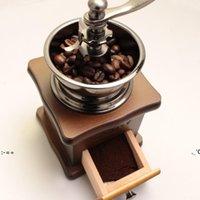 Mini rétro manuel de meuleuse à café vintage bois de café Bean Moulins Grinders Cuisine Outils de meulage Perfumery Cafe Bar à la main Café à la main BWD11126