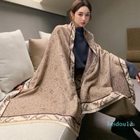 luxury-Scarves Autumn And Winter Scarf Women's Fashion Korean Version Of Wild Warmth Thickened Double-sided Cashmere Shawl Wrapped Headscarf